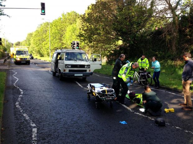Bridport and Lyme Regis News: The accident scene