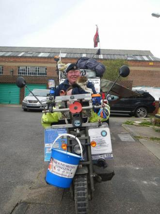 Fundraiser travelling coast of Britain in appeal to West Dorset businesses