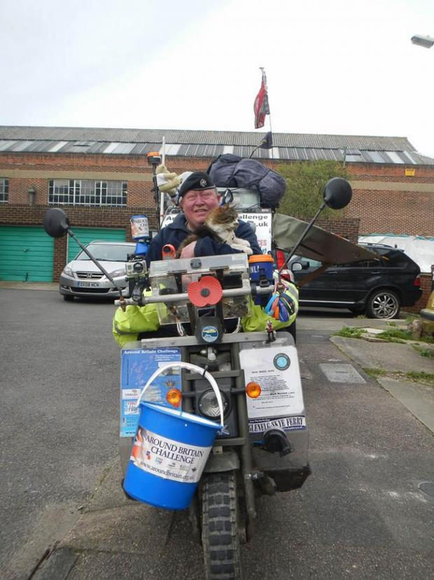Bridport and Lyme Regis News: Fundraiser travelling coast of Britain in appeal to West Dorset businesses