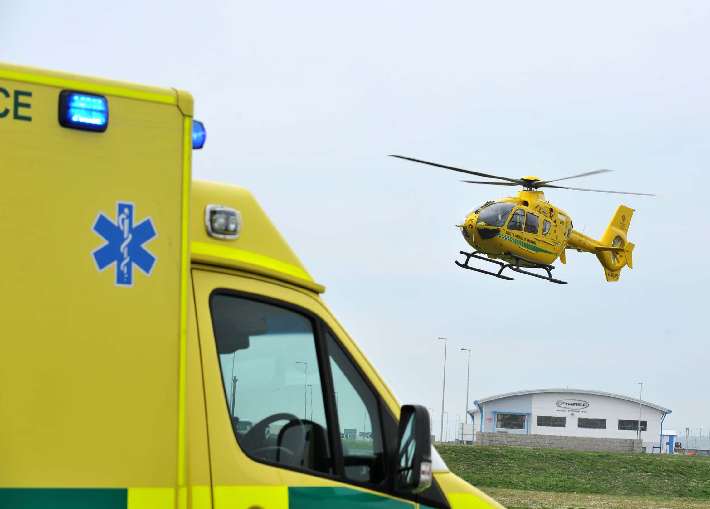 Air ambulance called as man collapses in Bridport