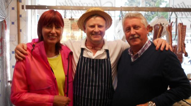 Presenter Janet Street-Porter visits Bridport butchers