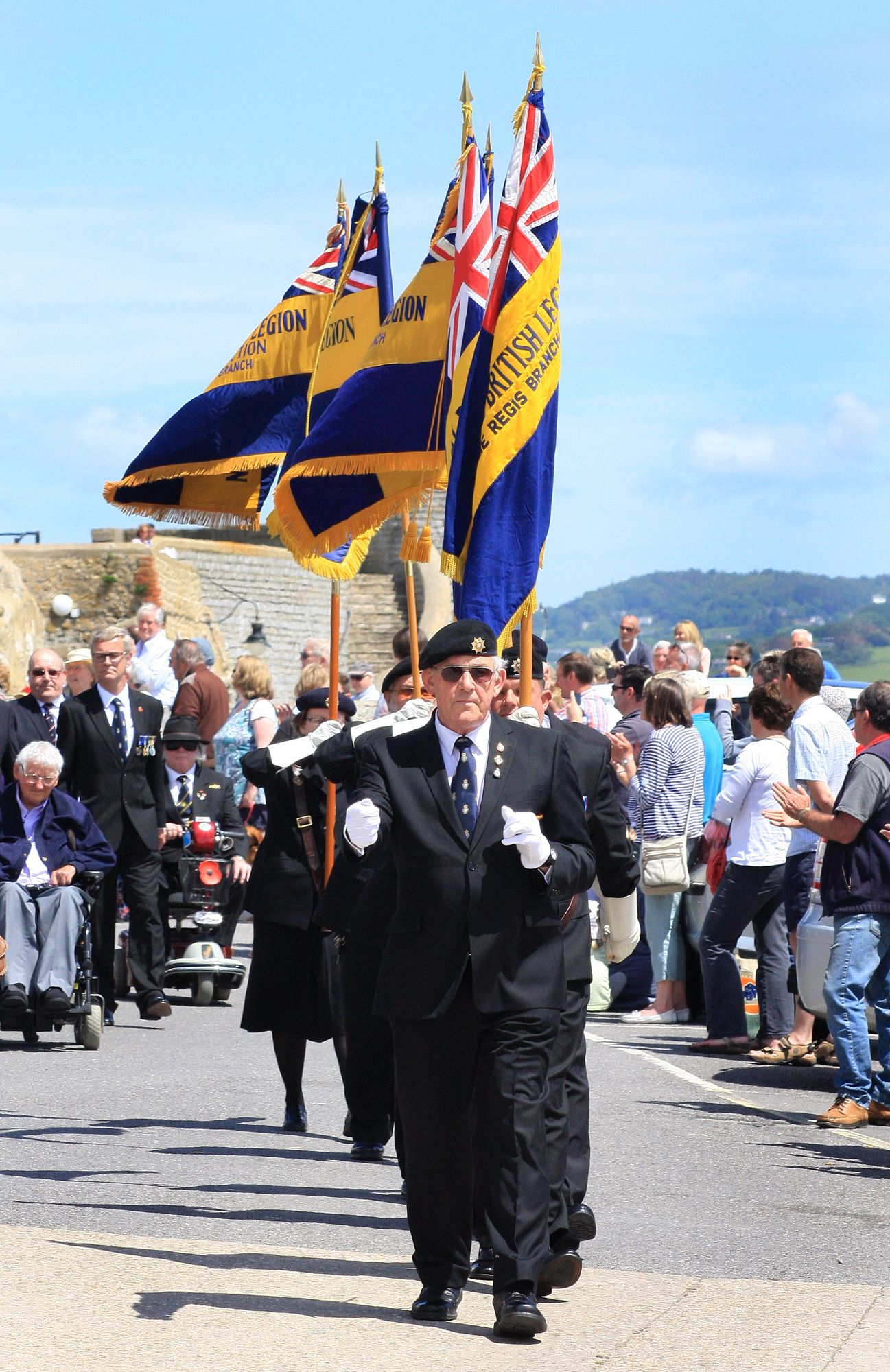 Town painted red, white and blue in three-day D-Day commemoration