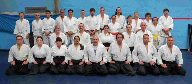 Bridport and Lyme Regis News: MAKING THE GRADE: Students from Bridport, Bristol and Exeter with Sensei Phil Bolt