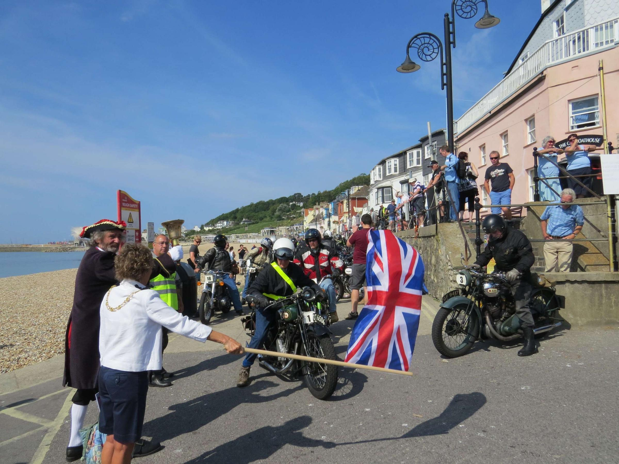 Motorbike event draws the crowds in Lyme Regis