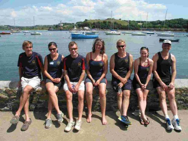 GIG GLEE: BRIDPORT Gig Rowing Club's mixed team