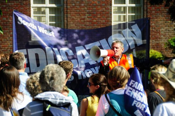 Bridport and Lyme Regis News: Geoff Cooke at a previous rally