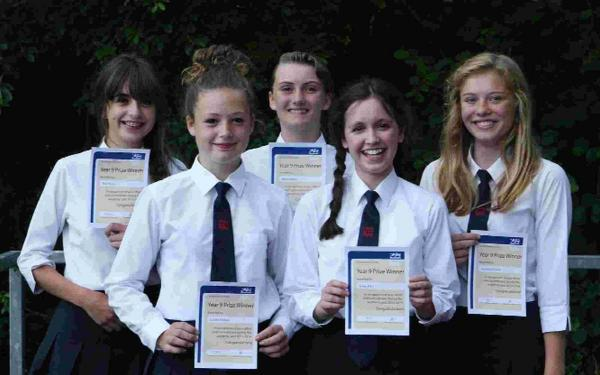 YOUNG ACHIEVERS: Mia Musto, Caitlin Oldham, Millie Pearce, Katie Pike and Indianna Powell