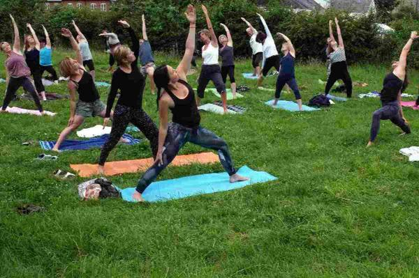 Try new yoga class amongst the apple trees