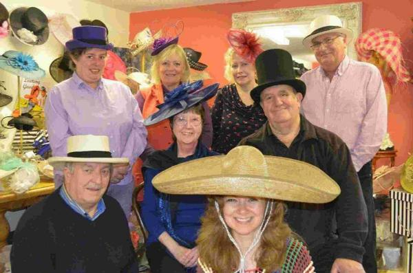 HAT COMMITTEE: From left to right Roger Snook, Sarah Williams, Dennie Rose, Lynne Atkinson, Liz Paine, Monica Snook, Brian Atkinson and Stuart Rose  (Martin Bell not pictured)