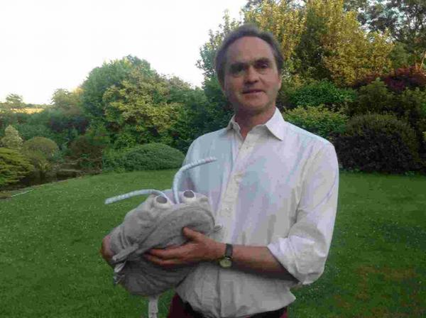 Children's author Patrick Caruth with the third in his Woodlice World series