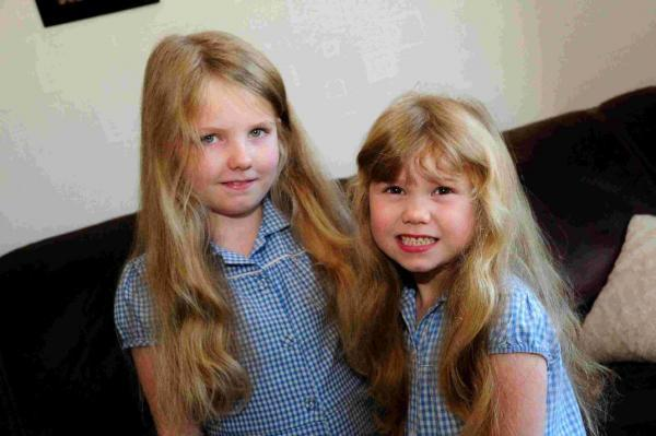 Little princesses donate their golden locks to help child cancer patients