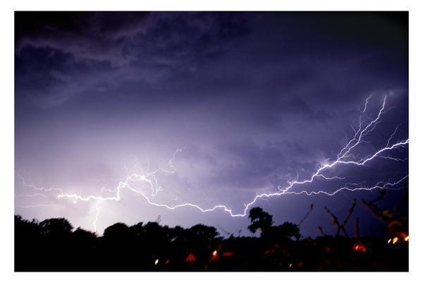 Bridport and Lyme Regis News: Lightning pictures from last night's storm in Dorset- Jo Parry