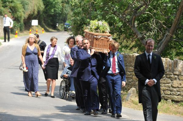 WITH VIDEO: Family and friends gather to say goodbye to 'humerous and humble' Sir John Colfox