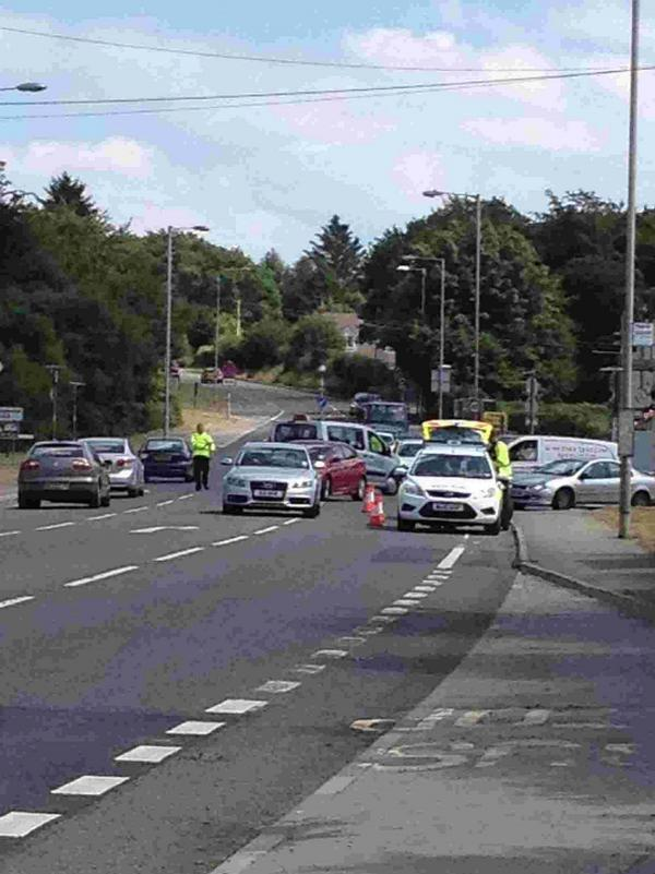 BLACKSPOT: Another accident at Hunters Lodge involving a car and a motorcycle in July last year