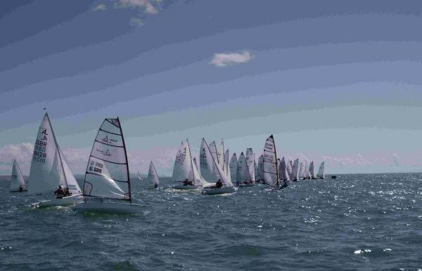 ON THE WATER: Competitors in Lyme Regis Sailing Club's regatta                   Picture: PAULINE ROOK