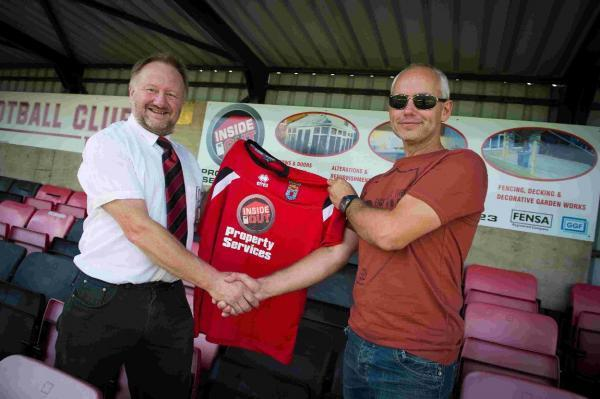 MAIN SPONSOR: Adrian Scadding with Darren Turner of Inside 'n' Out Property Services