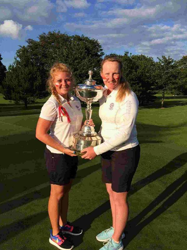 WINNING FOURSOMES: Sophie Keech and India Clyburn