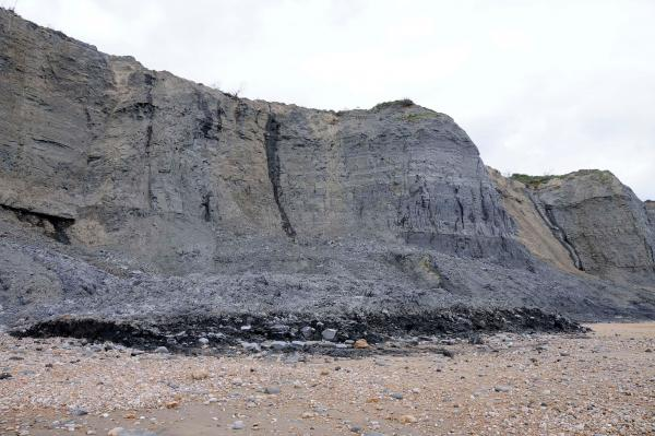 Picture shows a seperate rockfall at Charmouth back in June. Picture Graham Hunt