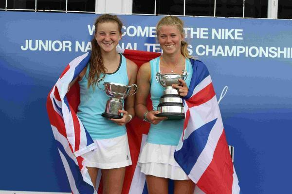NATIONAL PRIDE: Joely Lomas and Seaton's Emma Hurst