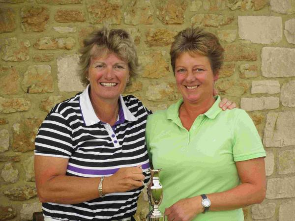 SCATCH CUP WINNER: Di Loving, left, with Ruth Donovan