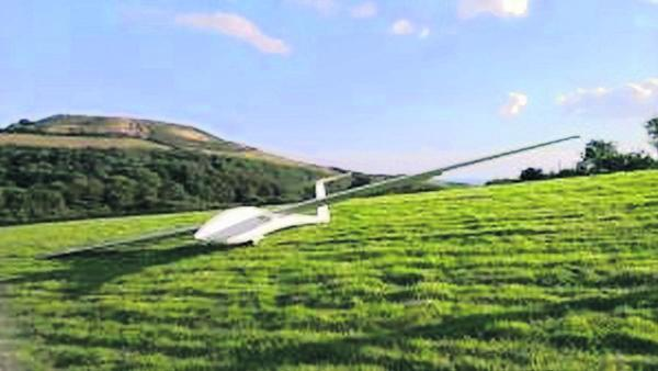 Residents left baffled after discovering a glider in a field
