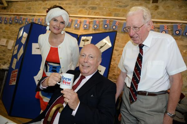 Lord Julian Fellowes (centre) and Lady Emma (left) with Alan Kidson at the event