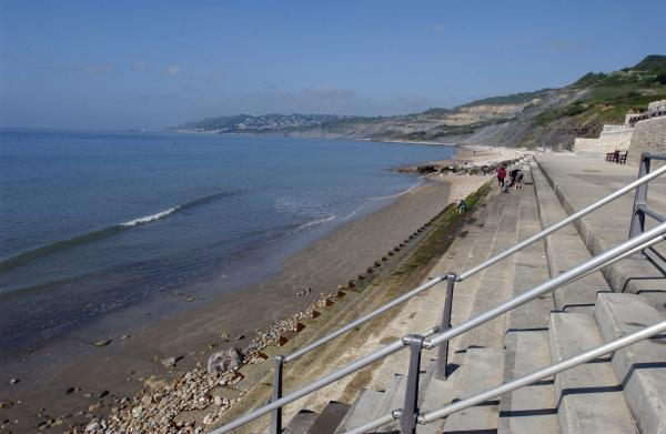 Charmouth Beach where students will be able to try out Beach School