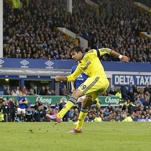 Diego Costa, right, scores the final goal