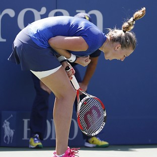 Kvitova crashes out