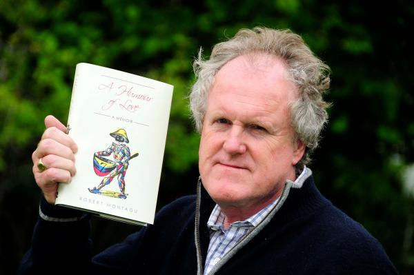 Robert Montagu with his book