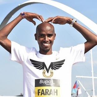 Mo Farah is aiming to become the first British winner of the Great North Run in 29 years on Sunday