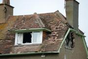 A picture showing the extent of the damage to the house. Picture John Gurd