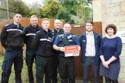 FACT-FINDING: Left to right, PCSO Dave Ash, PC Tim Poole, PCSO Alex Bishop with a delegation from Thames Valley Policy and NFU