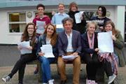 Students from Beaminster and The Sir John Colfox School with scriptwriter Paul Dodgson
