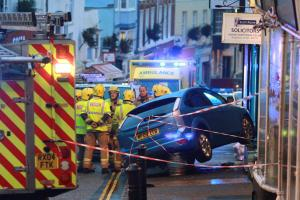 UPDATE: Man dies after suffering medical episode while driving and crashing into shop