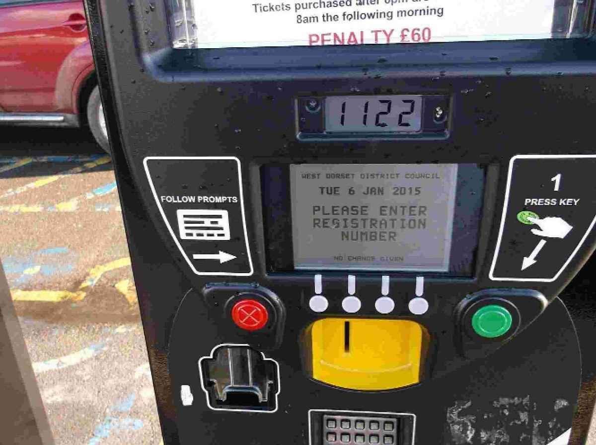 CONTROVERSIAL: The new West Dorset District Council car parking machines