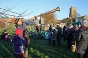 Wassailing to 'wake up' the trees in Bridport