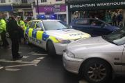 A police car has been involved in a collision in Bridport