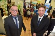 STUDENT CHOICES: Mark Taylor, economic regeneration officer at WDDC and Graham Farrow, director of options and careers at Sir John Colfox School