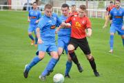 INJURY CONCERN: Bridport striker Jack Scovell, right, had to be replaced