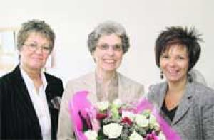 TOP TEMP: Dodie Brevitt (centre)