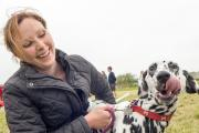 Stef Howard with a Pippa a Dalmation. Photos by Neil Barnes