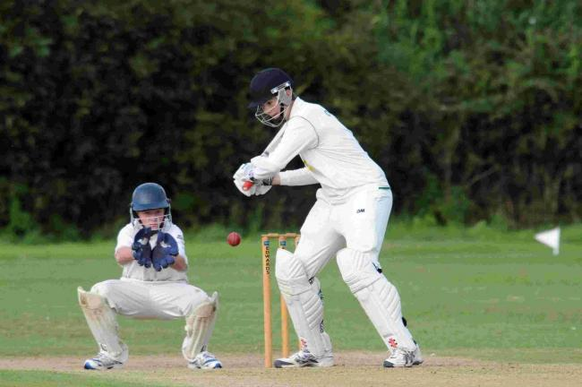 IN FORM: Ollie Lee, right, had a great day with the ball for Uplyme