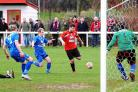 EARLY GOALS: Jamie Symes fired a hat-trick against Patchway Town