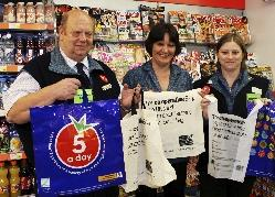 Lyme Regis Co-op store manager Jim Pigott was happy to support the launch of the eco-bags