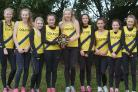 CHAMPIONS: Colfox's junior girls celebrate their victory