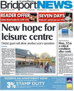 Bridport and Lyme Regis News: Here's this week's Bridport and Lyme Regis News. Click here to read the front page story