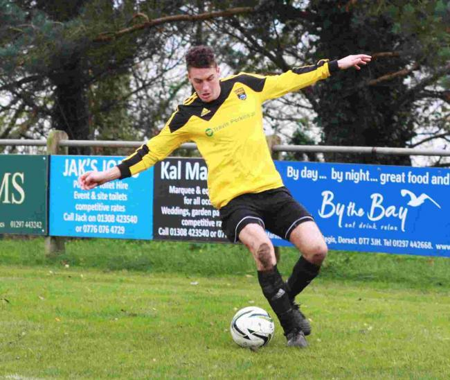 ON TARGET: Lyme's Joe Bond found the net at the weekend
