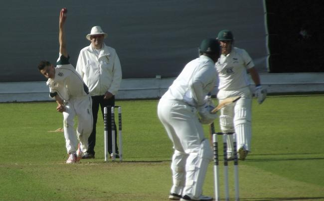 PACE ACE: Bradley Currie looks for an early Wiltshire wicket