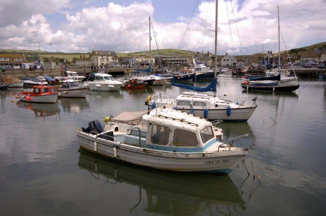 Boats at West Bay Harbour